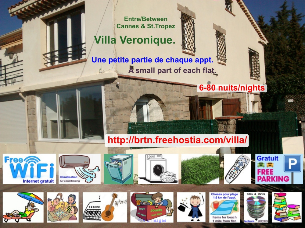 French Riviera 2 holiday flats in Villa Veronique, many toys/games/etc Windsor, UK Classifieds